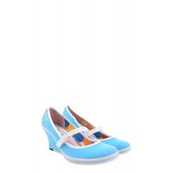 Дамски сандали с естествена...