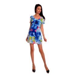 Дамска рокля с ефектен десен